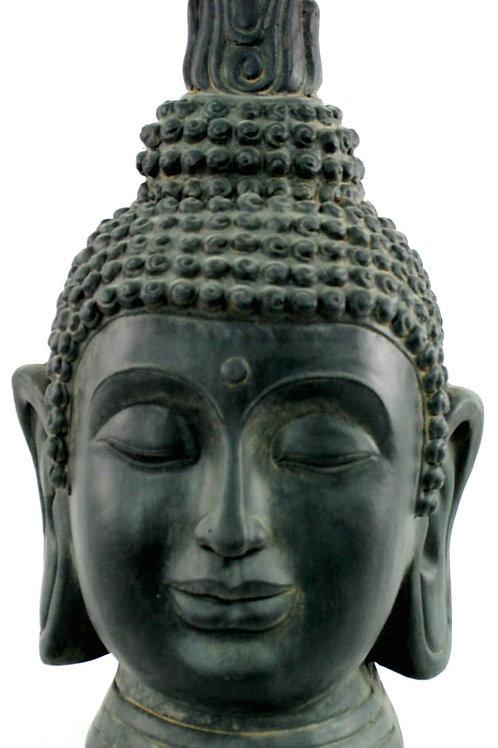 Stone Effect Buddha Head Large Statue Shipping furniture UK
