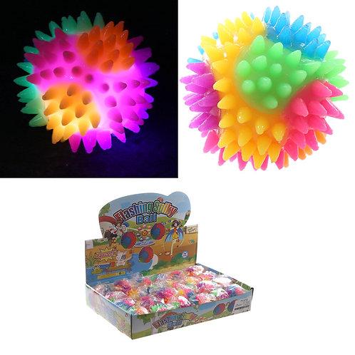 Novelty Gift Fun Kids Spiky Bouncy Light Up Ball 5.5cm