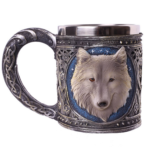 Decorative Fantasy Wolf Tankard Novelty Gift