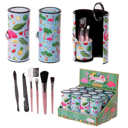 Fun Make Up Utensil Kit - Flamingo Novelty Gift