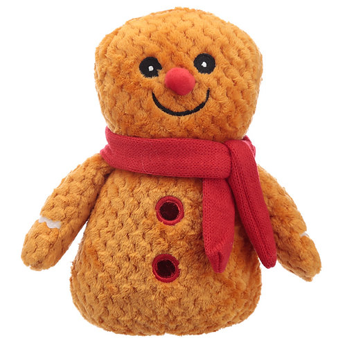 Fun Christmas Gingerbread Man Plush Door Stop Novelty Gift