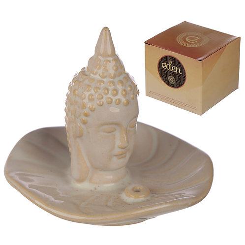 Eden Incense Burner - Thai Buddha and Leaf Novelty Gift