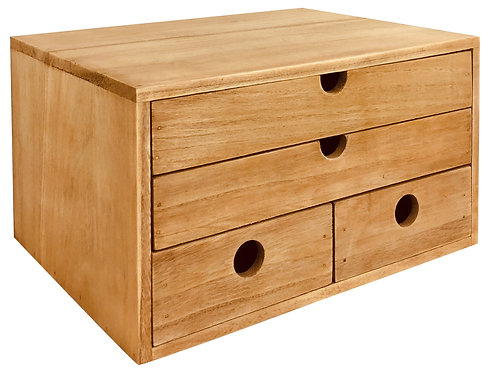 Rustic Solid Wood Storage Organizer 33cm Shipping furniture UK