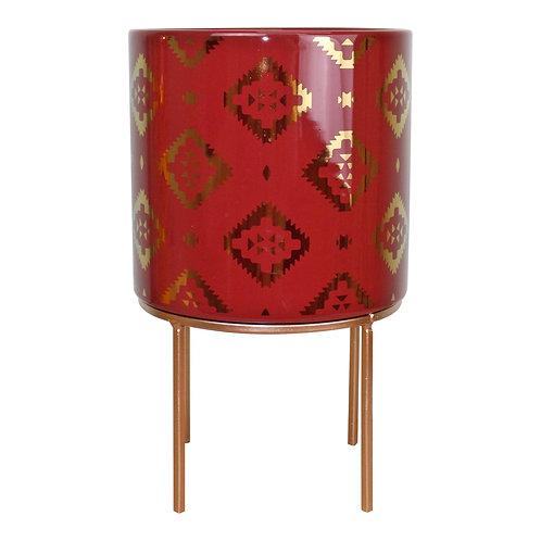 Kasbah Design Ceramic Planter, Red Shipping furniture UK