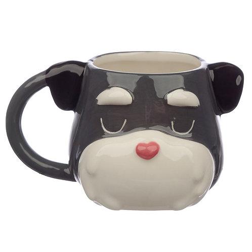 Ceramic Dog Squad Schnauzer Head Collectable Mug Novelty Gift