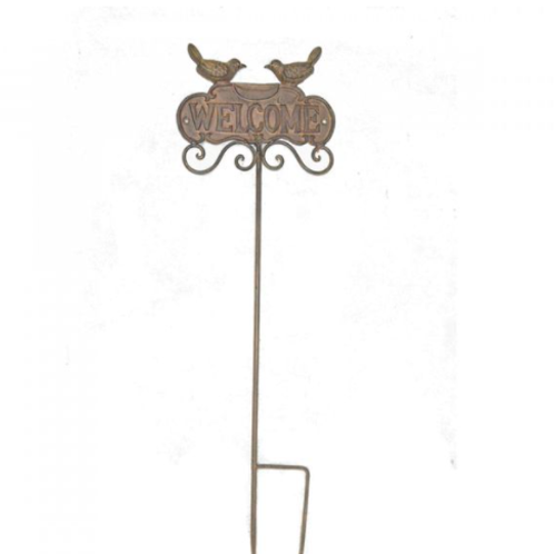 Welcome Sign Metal Garden Stake | Florist Sundries Supplies and Events UK