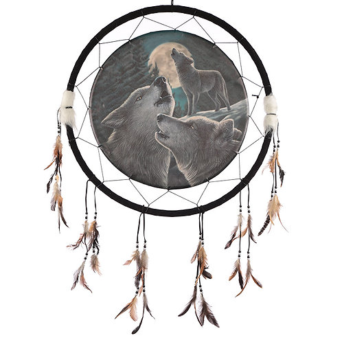 Decorative Fantasy Wolf Family Dreamcatcher Large Novelty Gift