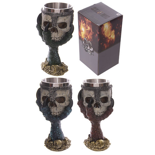 Decorative Dragons Claw and Skull Goblet Novelty Gift