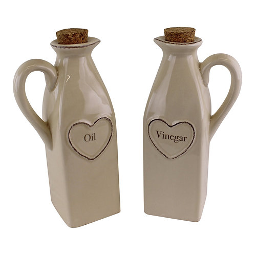 Set Of 2 Heart Range Oil & Vinegar Set Shipping furniture UK