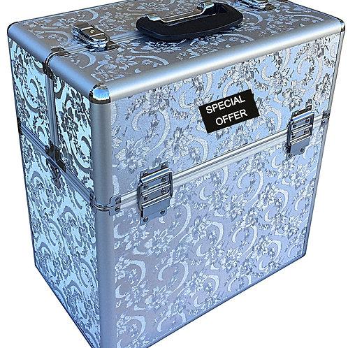 Silver Leaf Vanity Case 40cm Shipping furniture UK