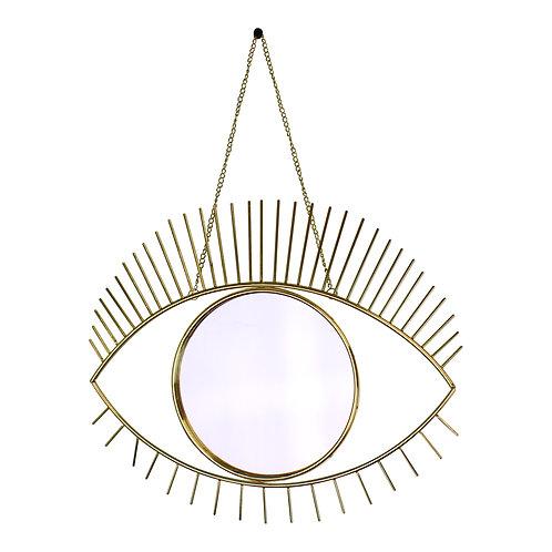 Gold Metal Eye Mirror  Shipping furniture UK