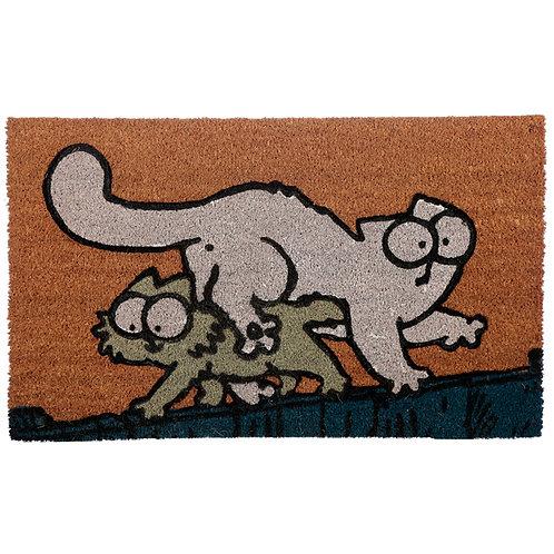Coir Door Mat - Simon's Cat & Kitten Novelty Gift