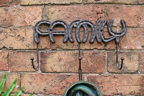 Rustic Cast Iron Wall Hooks, Family Shipping furniture UK