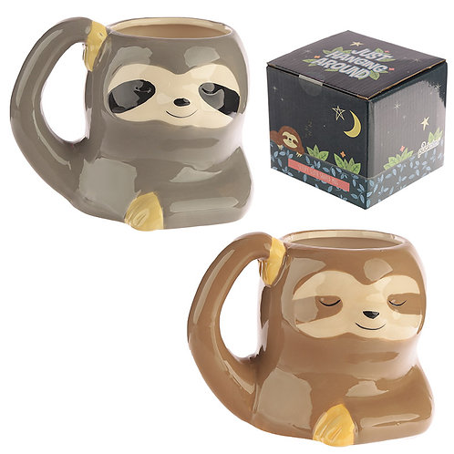 Cute Sloth Shaped Ceramic Mug Novelty Gift