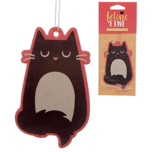 Feline Fine Cherry Scented Cat Air Freshener Novelty Gift