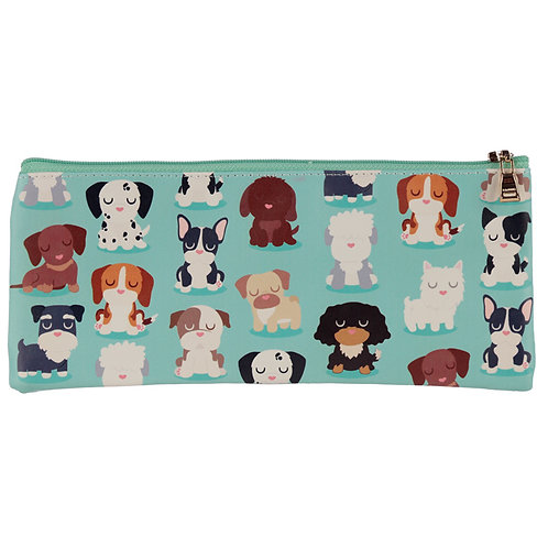 Fun Novelty Pencil Case - Dog Squad Design Novelty Gift [Pack of 2]