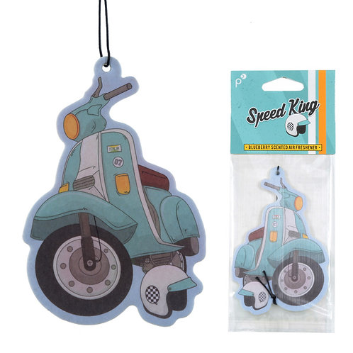 Funky Retro Scooter Design Blueberry Fragranced Air Freshener Novelty Gift