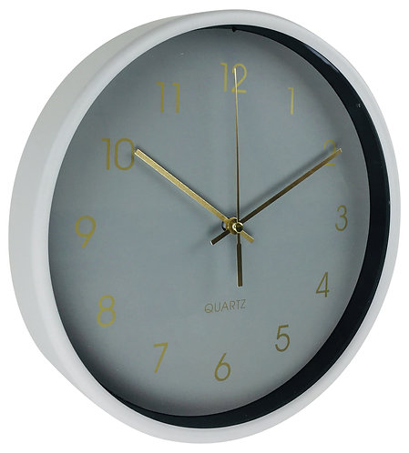 Round Wall Clock In Grey 25cm Shipping furniture UK