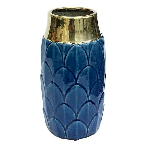Art Deco Vase - Blue Shipping furniture UK