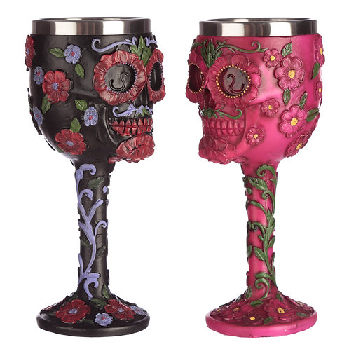 Collectable Decorative Day of the Dead Skull Goblet Novelty Gift