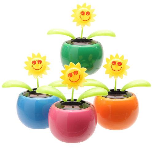 Novelty Gift Funky Sunflower Design Solar Pal
