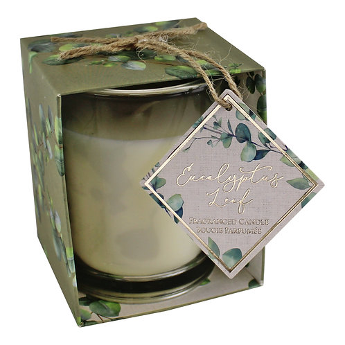 Eucalyptus Leaf Fragranced Candle in Gift Box