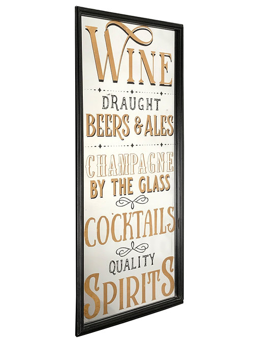 Vintage Style Wines Mirror Shipping furniture UK