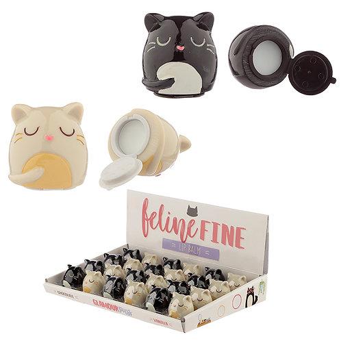 Funky Lip Balm - Cute Cat Design Novelty Gift