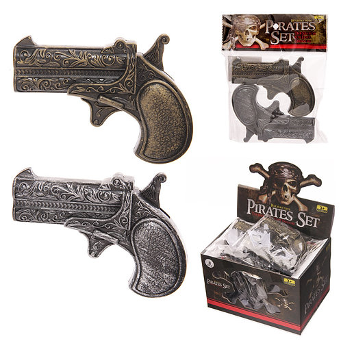 Novelty Gift Fun Kids Plastic  Pirate Guns Pack of 2