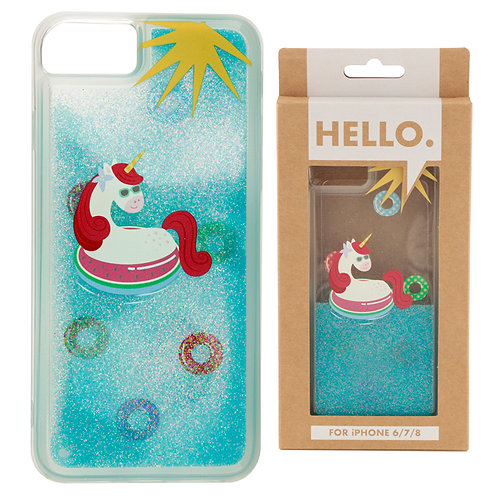 iPhone 6/7/8 Phone Case - Tropical Vacation Vibes Unicorn Novelty Gift