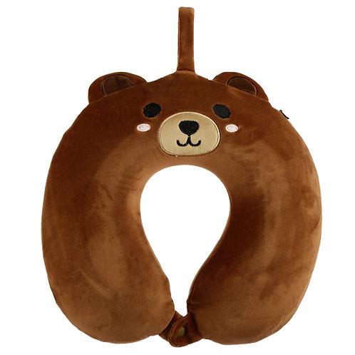 Cutiemals Bear Relaxeazzz Plush Memory Foam Travel Pillow Novelty Gift
