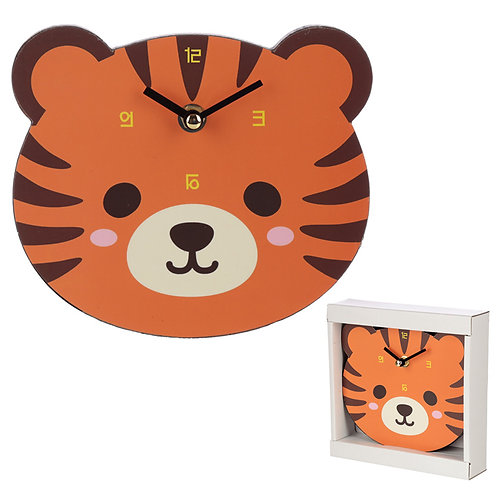 Cute Tiger Shaped Wall Clock Novelty Gift