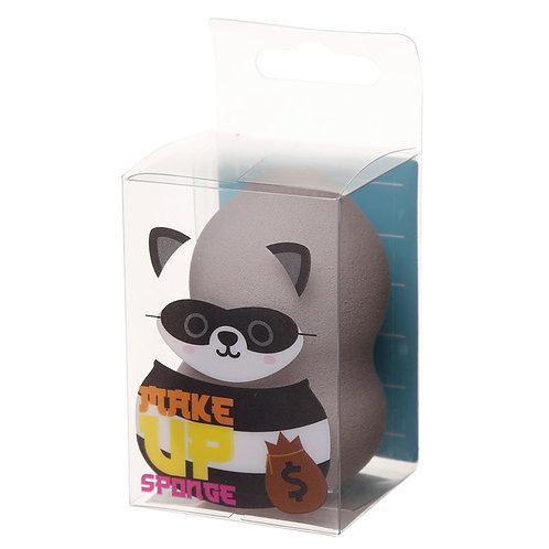 Cutiemals Makeup Applicator Sponge - Raccoon Novelty Gift