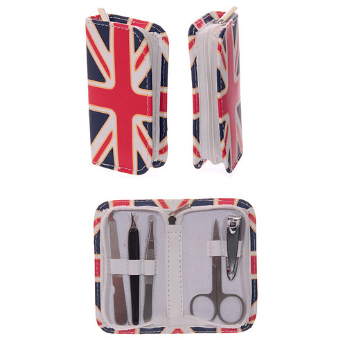 Fun Manicure Set in Union Flag Holder Novelty Gift