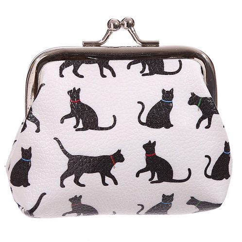 Fun Tic Tac Floral Cat Silhouette Purse Novelty Gift