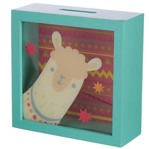 Novelty See Your Savings Money Box - Llama Design Gift