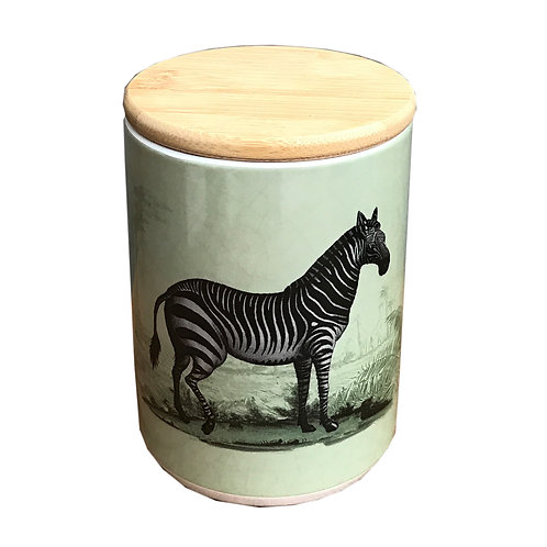 Ceramic Canister With Zebra Shipping furniture UK