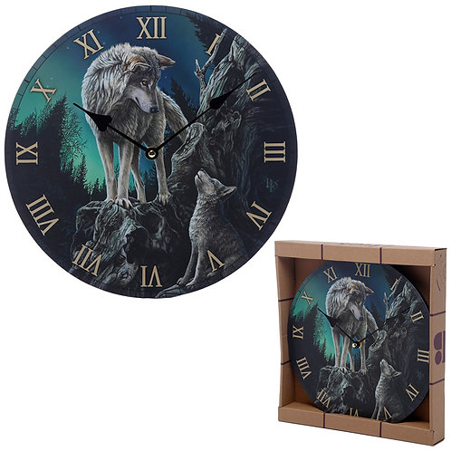 Decorative Wolf Guidance Lisa Parker Designed Wall Clock Novelty Gift