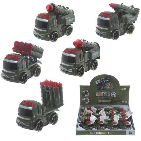 Novelty Gift Fun Kids Push Along  Military Vehicles Toy