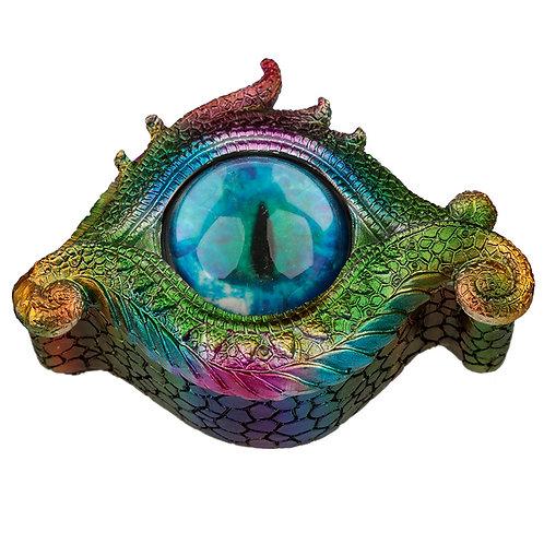 All Seeing Eye Metallic Rainbow Dragon Trinket Box Novelty Gift