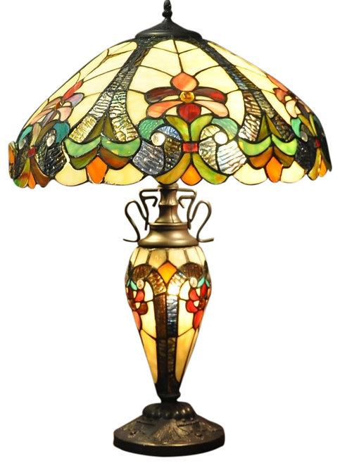 Yellow Double Tiffany Lamp 68cm Shipping furniture UK