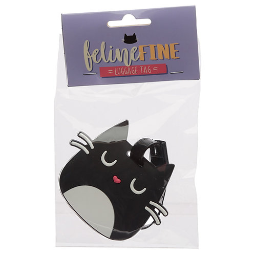 Cute Novelty Cat Feline Fine PVC Luggage Tag Novelty Gift