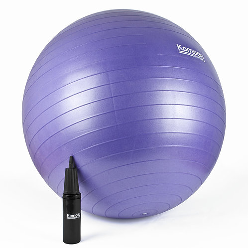 65cm Yoga Exercise Ball - Purple | Home Essentials UK