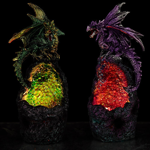 Crystal Cavern LED Dark Legends Dragon Figurine Novelty Gift