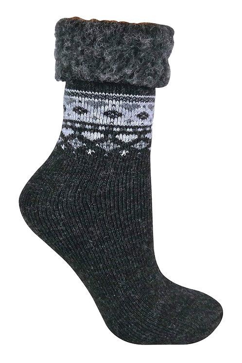 Ladies Turn Over Top Thermal Bed Socks