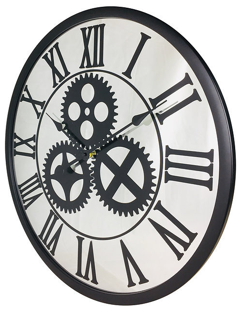 Mirrored Mechanism Clock 56cm Shipping furniture UK