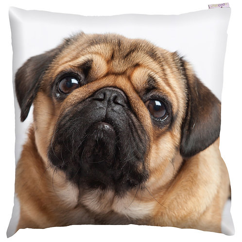 Decorative Pug Print Cushion Novelty Gift