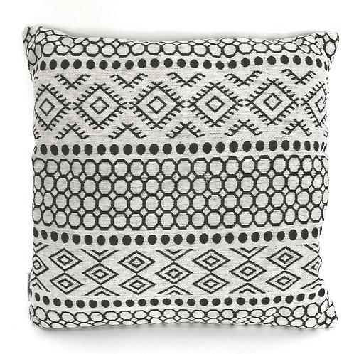 Aztec Design Cushion - Grey Shipping furniture UK