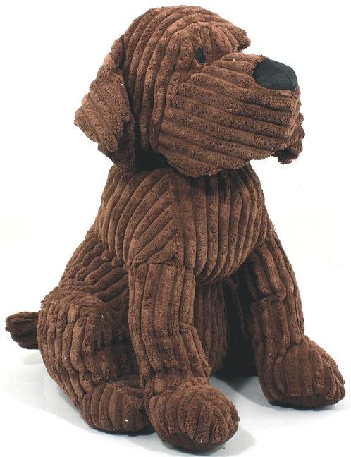 Large Chocolate Ribbed Dog Doorstop Shipping furniture UK