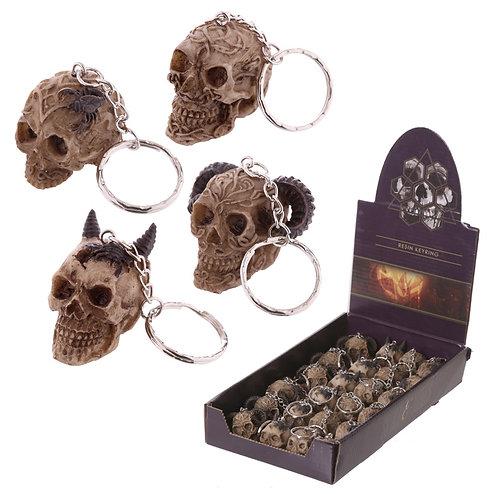 Fantasy Celtic Skull Head Key Chain Novelty Gift